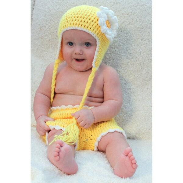 Sugarbaby Sunshine Sunflower Crocheted Beanie and Diaper Set