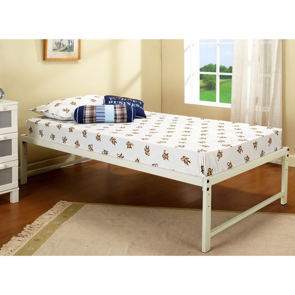Shop K Amp B B59 12 White Hi Riser Bed Free Shipping Today