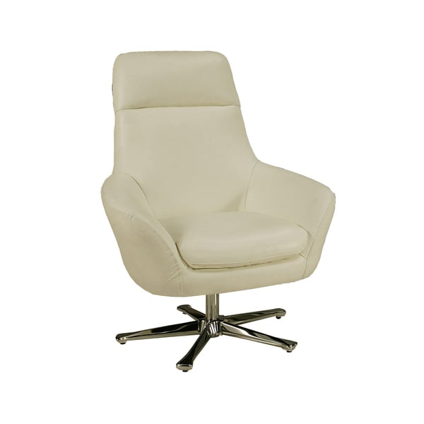 Shop Ellejoyce White Leather Club Chair - Overstock - 7585373