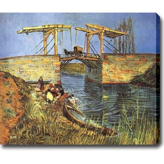 Vincent van Gogh 'The Drawbridge at Arles with a Group of Washerwomen' Oil on Canvas Art