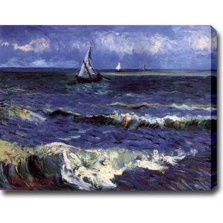 Vincent van Gogh 'Seascape near Saintes-Maries' Oil on Canvas Art