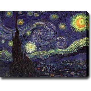 Vincent van Gogh 'Starry Night' Oil on Canvas Art