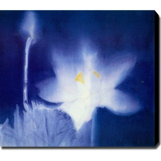 Blue Lotus' Abstract Oil on Canvas Art