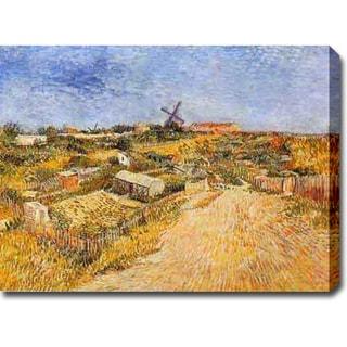 Vincent van Gogh 'Vegetable Gardens in Montmartre II' Oil on Canvas Art