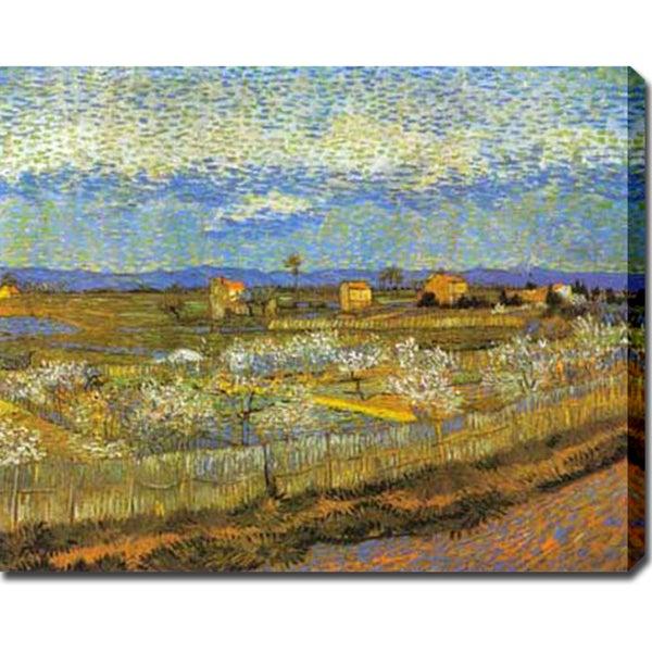 Vincent van Gogh 'Orchard' Oil on Canvas Art