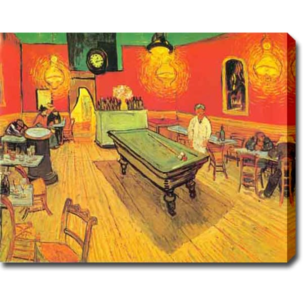 Vincent van Gogh 'The Night Cafe in the Place Lamartine in Arles' Oil on Canvas Art