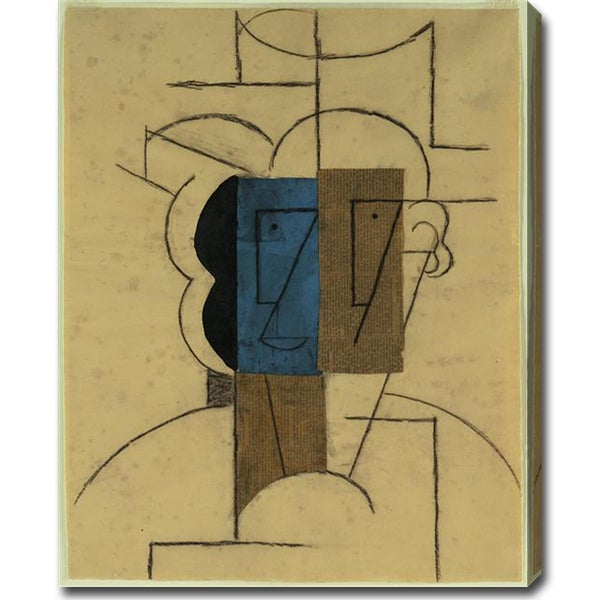 Pablo Picasso 'Man with a Hat' Oil on Canvas Art