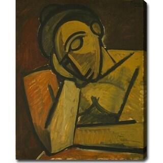 Pablo Picasso 'Repose' Oil on Canvas Art