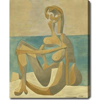 Pablo Picasso 'Seated Bather' Oil on Canvas Art