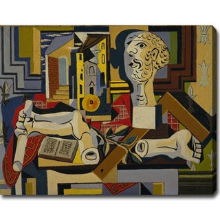 Pablo Picasso 'Studio with Plaster Head' Oil on Canvas Art