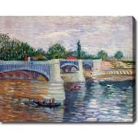 Vincent van Gogh 'The Seine with the Pont de la Grande Jatte' Oil on Canvas Art