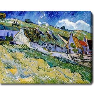 Vincent van Gogh 'Cottages' Oil on Canvas Art