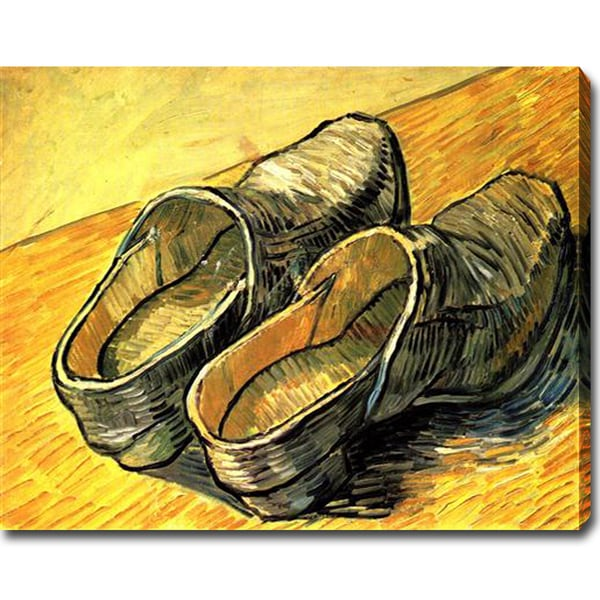 Vincent van Gogh 'A Pair of Leather Clogs' Oil on Canvas Art