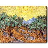 Vincent van Gogh 'Olive Trees' Oil on Canvas Art