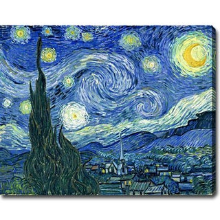 Vincent van Gogh 'Starry Night' Oil on Canvas Art
