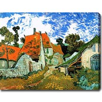 Vincent van Gogh 'Village Street in Auvers' Oil on Canvas Art