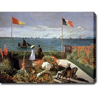 Claude Monet 'Balcony on the Sea at Saint Adresse' Oil on Canvas Art