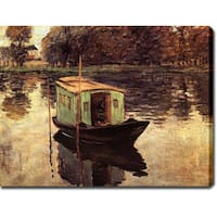 Claude Monet 'The Studio Boat' Gallery-wrapped Canvas Art  - Multi
