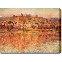 Claude Monet 'Vetheuil in Summertime' Gallery-wrapped Canvas Art  - Multi