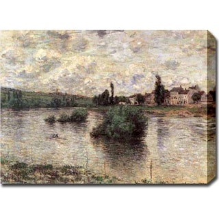 Claude Monet 'The Seine at Lavacourt' Gallery-wrapped Canvas Art