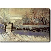 Claude Monet 'Magpie' Gallery-wrapped Canvas Art - Multicolor