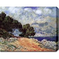 Claude Monet 'Cap Martin' Gallery-wrapped Canvas Art  - Multi
