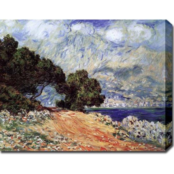 Claude Monet 'Cap Martin' Gallery-wrapped Canvas Art