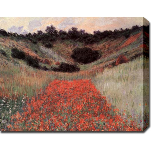 Claude Monet 'Poppy Field in Hallow' Gallery-wrapped Canvas Art
