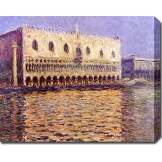 Claude Monet 'Venice, The Doge Palace' Gallery-wrapped Canvas Art