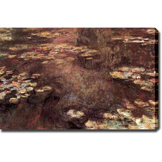 Claude Monet 'Water Lily Pond' Oil on Canvas Art