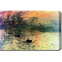 Claude Monet 'Impression Sunrise' Oil on Canvas Art - Multi