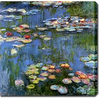 Claude Monet 'Water Lilies 1914' Oil on Canvas Art - Multi