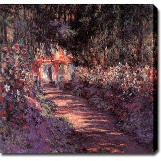 Claude Monet 'The Garden in Flower' Oil on Canvas Art