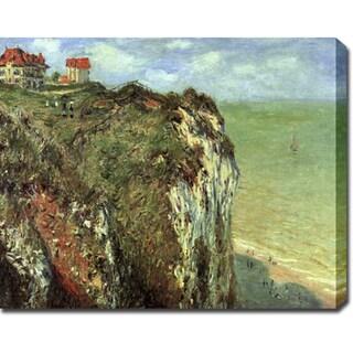 Claude Monet 'Cliffs near Dieppe' Oil on Canvas Art