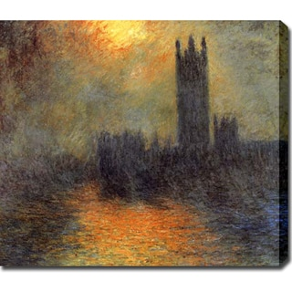 Claude Monet 'Houses of Parliament, London' Oil on Canvas Art