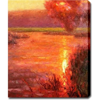 'Sunset in the Swamp' Oil on Canvas Art