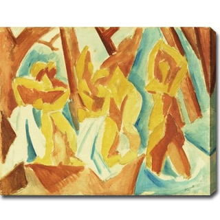 Pablo Picasso 'Bathers in the Forest' Oil on Canvas Art