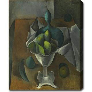 Pablo Picasso 'Fruit Dish' Oil on Canvas Art