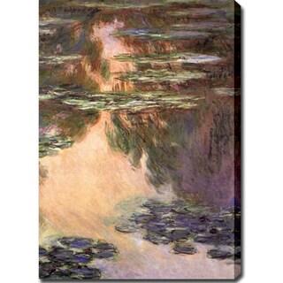 Claude Monet 'Water Lilies 2, 1907' Oil on Canvas Art