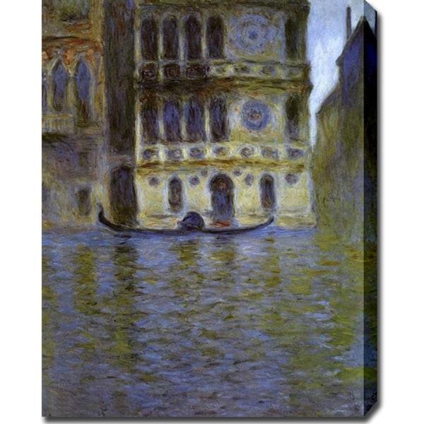 Claude Monet 'Palazzo Dario, Venice' Oil on Canvas Art - Multi