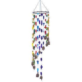 Handmade Rainbow Falls Wind Chime (India)