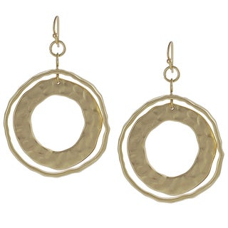 Journee Collection Goldtone Hoop Dangle Earrings