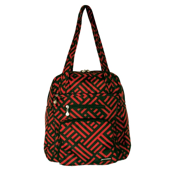 Jenni Chan Women's Signature Red and Black Soft Gym Tote Bag