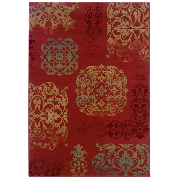 Somette Arabesque Filigree Bronze Area Rug (9' x 12'2)