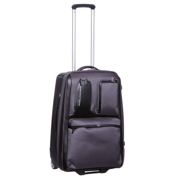 Piquadro Designer 24-inch Medium Expandable Upright Suitcase
