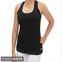 Cotton Racerback Tank Top with Built-in Bra