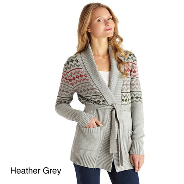 Covered By Suss Women's 'Robin' Aztec Pattern Belted Cardigan
