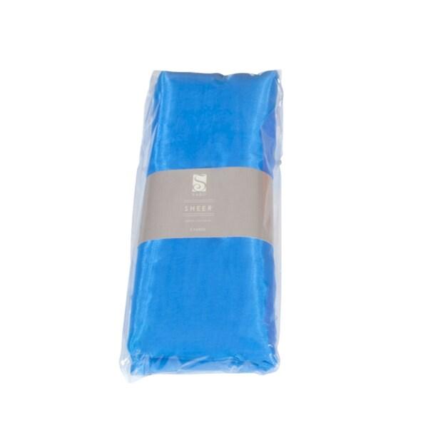 Saro Blue Organza Fabric (5 yards/ Bundle)