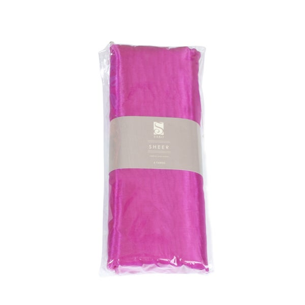 Saro Fuchsia Organza Fabric (5 yards/ Bundle)