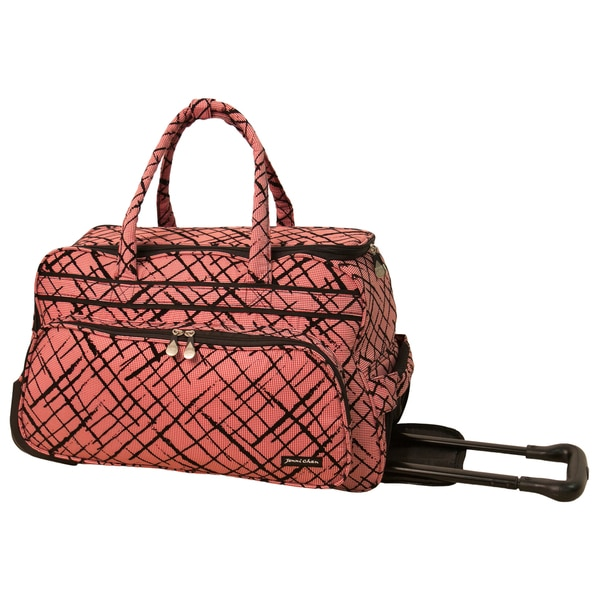 Jenni Chan Brush Strokes 20-inch Carry On Rolling Upright Duffel Bag